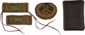 Military & Patriotic:Civil War, Only Example Noted, Civil War Hat Insignia and Shoulder Straps, with Period ID to Capt. George S. Tuckerman, Commanding Compan... (Total: 4 Items)
