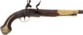 Military & Patriotic:Foreign Wars, Exceptional Quality Fine Condition Middle Eastern 18th Century Flintlock Holster Pistol....