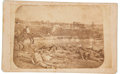Military & Patriotic:Civil War, Extremely Rare, Possibly Unique, Variant of the Carte-de-Visite View of the Confederate Dead Outside Battery Robinette....