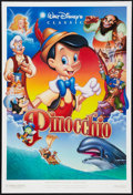 "Movie Posters:Animation, Pinocchio (Buena Vista, R-1992). One Sheets (2) (27"" X 40"") Styles A and B. Animation.. ... (Total: 2 Items)"