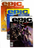 Magazines:Science-Fiction, Epic Illustrated Group (Marvel, 1980-85) Condition: Average VF....(Total: 20 Comic Books)