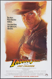"""Indiana Jones and the Last Crusade (Paramount, 1989). One Sheet (27"""" X 40.5"""") Advance. Action"""