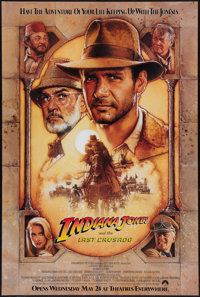 """Indiana Jones and the Last Crusade (Paramount, 1989). One Sheet (27"""" X 40"""") Advance. Action"""