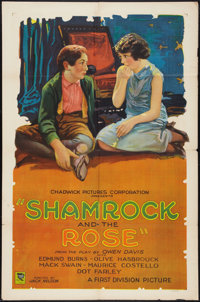 "The Shamrock and the Rose (Chadwick Pictures, 1927). One Sheet (27"" X 41"") Style B. Comedy"