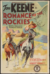 "Romance of the Rockies (Monogram, 1937). One Sheet (27"" X 40""). Western"
