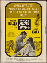 """The World of Suzie Wong Lot (Paramount, R-1965). Poster (30"""" X 40""""), and Lobby Cards (2) (11"""" X 14"""")..."""