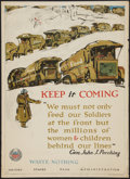 "Movie Posters:War, War Propaganda Poster (U.S. Food Administration, 1918). World War IPoster No. 14 (21"" X 29"") ""Keep it Coming...Waste Nothin..."