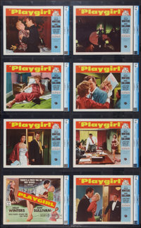 "Playgirl (Universal International, 1954). CGC Graded Lobby Card Set of 8 (11"" X 14""). Drama. ... (Total: 8 Ite..."