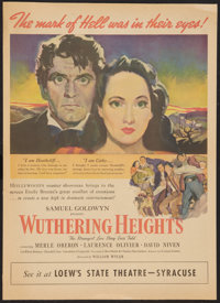 """Wuthering Heights (United Artists, 1939). Newspaper Supplement (15.5"""" X 21.5""""). Romance"""