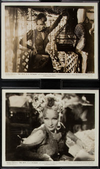 """Marlene Dietrich in """"The Devil is a Woman"""" (Paramount, 1935). Photos (2) (8"""" X 10""""). Romance. ... (T..."""