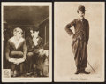 """Movie Posters:Comedy, Charlie Chaplin Lot (Red Letter, 1915). British Photocards (6),Post Card and Fan Card (3.5"""" X 5.5"""") Miscellaneous. Comedy....(Total: 8 Items)"""