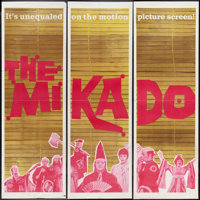 "The Mikado (Warner Brothers, 1967). Door Panel Set of 3 (20"""" X 60""""). Musical. ... (Total: 3 Items)"