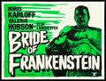 "Movie Posters:Horror, The Bride of Frankenstein (Universal International, R-1950s).British Quad (30"" X 40""). Horror.. ..."