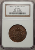 Luxembourg, Luxembourg: William III 10 Centimes 1870 No Dot,...