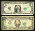 Error Notes:Error Group Lots, Fr. 1902-L $1 1963B Federal Reserve Note. Fine. Fr. 2075-E $20 1985Federal Reserve Note. Fine.. ... (Total: 2 notes)