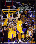 Basketball Collectibles:Photos, NBA Stars Signed Oversized Photographs Lot of 3....