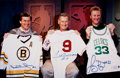 Miscellaneous Collectibles:General, Boston Sports Legends Multi Signed Oversized Photograph - Orr,Williams and Bird!...