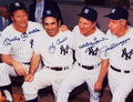 Baseball Collectibles:Photos, New York Yankees Legends Multi Signed Oversized Photograph -Mantle, Berra, Ford and DiMaggio!...