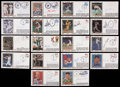 Baseball Collectibles:Others, Major League Stars Signed First Day Covers Lot of 18....