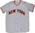 "Baseball Collectibles:Uniforms, Willie Mays Unsigned ""Mitchell & Ness"" Giants Flannel Jersey...."