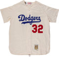 """Baseball Collectibles:Uniforms, Sandy Koufax Unsigned """"Mitchell & Ness"""" Flannel Jersey...."""