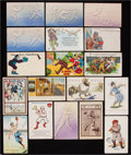 Baseball Collectibles:Others, Early 1900's Baseball Postcards Lot of 18....