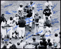 Baseball Collectibles:Photos, 1969 New York Mets Multi Signed Oversized Photograph....