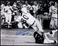 Football Collectibles:Photos, Football Greats Signed Oversized Photographs Lot of 4....
