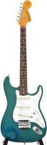 Musical Instruments:Acoustic Guitars, 1966 Fender Stratocaster Lake Placid Blue Solid Body ElectricGuitar, #167857....