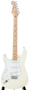 Musical Instruments:Acoustic Guitars, 1993 Fender Stratocaster Lefty Olympic White Solid Body ElectricGuitar, #N396595....