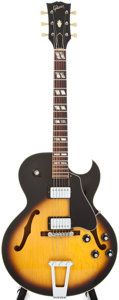 Musical Instruments:Acoustic Guitars, 1976 Gibson ES175-T Sunburst Archtop Electric Guitar, #00237962....