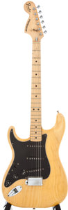 Musical Instruments:Acoustic Guitars, 1978 Fender Stratocaster Left-Handed Natural Solid Body Electric Guitar, #S868879....