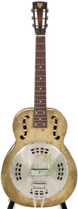 "Musical Instruments:Acoustic Guitars, 1934 Dobro ""Silver Guitar"" Leader Brass Resonator Guitar, #2057...."