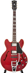 Musical Instruments:Electric Guitars, 1962/63 Gibson ES-345 Red Archtop Electric Guitar, #72547....