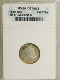 Bust Dimes, 1829 10C Small 10C--Cleaned--ANACS. MS60 Details. JR-6. NGC Census:(0/137). PCGS Population (4/118). Mintage: 770,000....