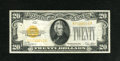 Small Size:Gold Certificates, Fr. 2402 $20 1928 Gold Certificate. Very Fine-Extremely Fine.. Fresh, bright and original is this moderately circulated gold...