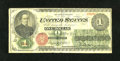 Fr. 16 $1 1862 Legal Tender Very Good-Fine. This is an evenly circulated example of this popular issue