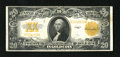 Large Size:Gold Certificates, Fr. 1187 $20 1922 Gold Certificate Very Fine. This note is just a few folds away from a full EF. The overprint is a deep yel...