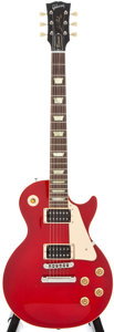 Musical Instruments:Electric Guitars, Modern Gibson Les Paul Cherry Solid Body Electric Guitar,#072855....