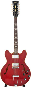 Musical Instruments:Acoustic Guitars, 1967 Gibson ES335TDC-12 Cherry Semi-Hollow Body Electric Guitar, #065400....
