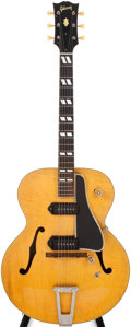 Musical Instruments:Electric Guitars, 1950 Gibson Model ES-300 Natural Hollow Body Electric Guitar, # A-6718....