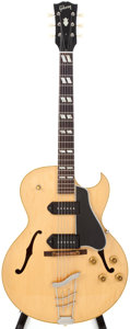 Musical Instruments:Electric Guitars, 1955 Gibson 175D Natural Hollow Body Electric, #A21718....