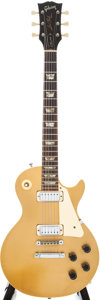 Musical Instruments:Electric Guitars, 1974 Gibson Les Paul Deluxe Goldtop Electric Solid Body Guitar,#118761....