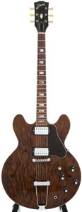 Musical Instruments:Electric Guitars, Early 1970s Gibson ES-335TD Walnut Hollow Body Guitar #173406...