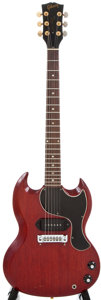 Musical Instruments:Electric Guitars, 1962 Gibson Les Paul Jr. Cherry Electric Guitar, #80334....