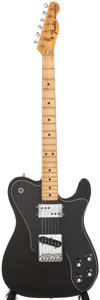 Musical Instruments:Electric Guitars, 1973 Fender Telecaster Custom Black Electric Guitar, #417310....