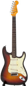 Musical Instruments:Electric Guitars, 1959/64 Fender Stratocaster Sunburst Electric Guitar, #L30317....