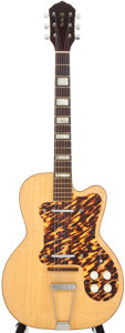 Musical Instruments:Electric Guitars, 1950's Kay K161 Thin Twin Jimmy Reed Natural Electric Guitar,#N/A....