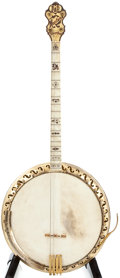 Musical Instruments:Banjos, Mandolins, & Ukes, Late 1920s-1930s Bacon and Day Silver Bell No. 3 Montana Special Pearloid/Gold Banjo #27310...