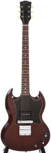 Musical Instruments:Electric Guitars, Late 1960s Gibson SG JR Cherry Electric Guitar, #X03205....